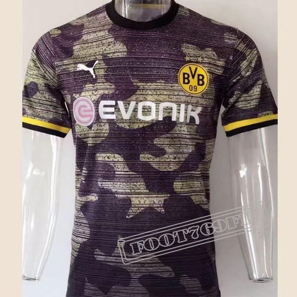 Les Nouvelles Chemise Polo Manche Courte Borussia Dortmund Noir/Jaune Homme Retro 2017 2018 :Foot769Fr