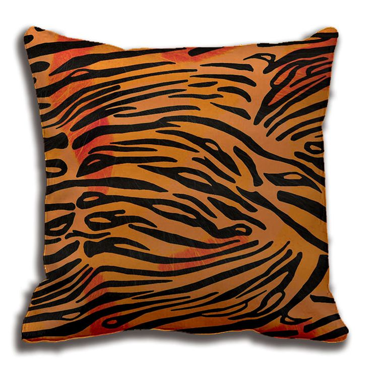 Striped Tiger Fur Animal Print Pattern Throw Pillow Decorative Cushion Cover Pillow Case Customize Gift By Lvsure For Sofa Seat