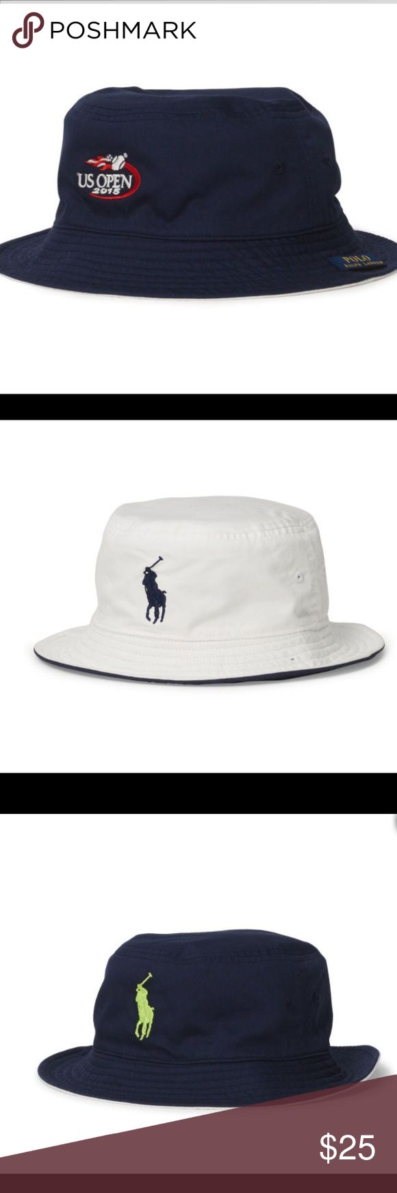Polo Ralph Lauren reversible bucket hat U.S. Open A great looking VERY light REVERSIBLE bucket hat. You can flip it into navy or white colors, depending on your attire and mood Polo by Ralph Lauren Accessories Hats