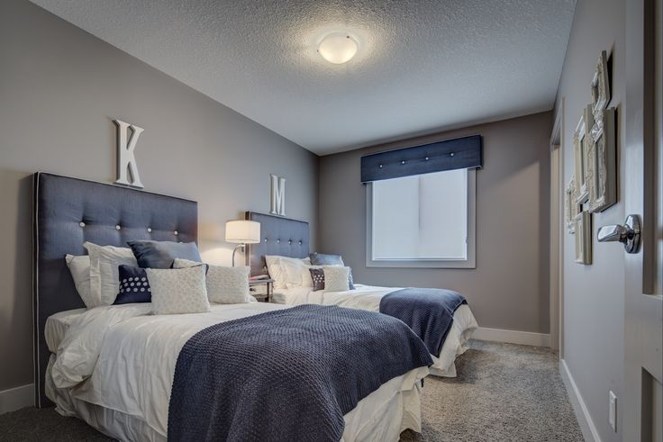One of the upstairs bedrooms - huge! http://blog.yourpacesetter.com/blog/bid/335496/New-Show-Home-The-Kristana-in-Crystallina