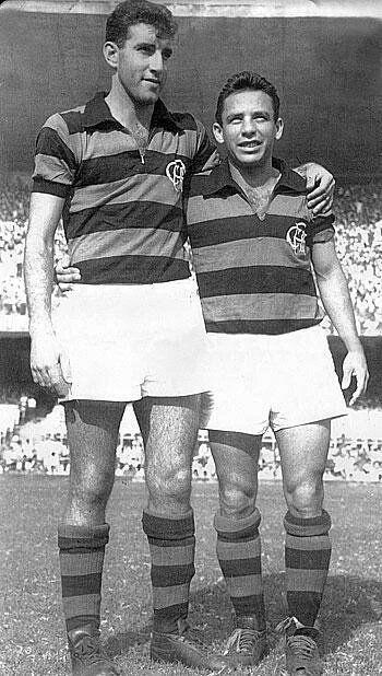 Gérson e Babá - 1961 - durante a campanha do título do Rio-SP daquele ano (revista do Esporte).