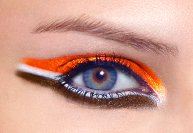 Game face Cleveland Browns eye makeup Cover Girl
