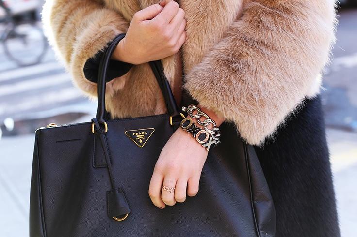 Prada Saffiano Lux Double-Zip Tote | Accessorize | Prada Saffiano ...