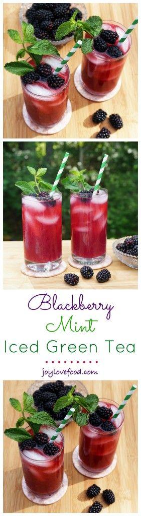 The best recipes for ICED TEA - Blackberry Mint Iced Green Tea