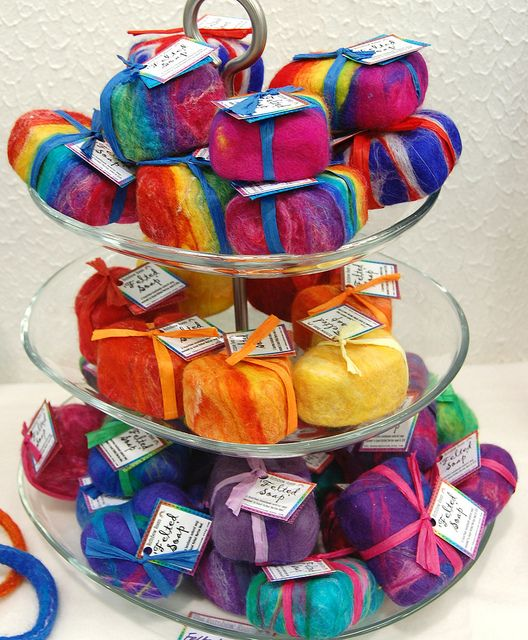 felt-covered soaps from therainbowroom's photostream via Flickr.com