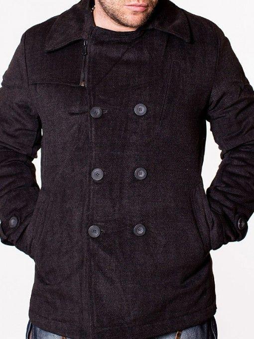 Palton pentru barbati sport elegant gri inchis EMT 04