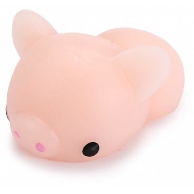 Just US$1.97, buy Cute Mini Cartoon Pig TPR Animal Squishy Toy online shopping at GearBest.com Mobile.