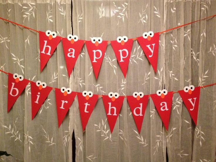 Happy Birthday Elmo banner