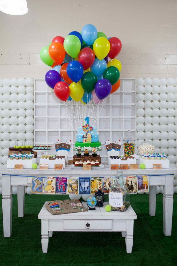 "How cute is this!!! A birthday Party theme with the movie ""UP"". Will have to remember this one!"