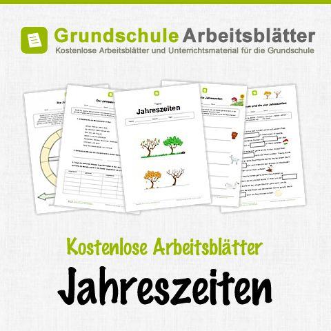 Kostenlose Arbeitsblätter und Unterrichtsmaterial für den Sachunterricht zum Thema Jahreszeiten in der Grundschule.