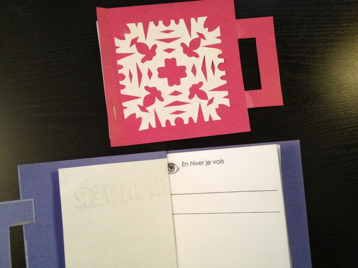 Madame Belle Feuille - mini book to make, write, draw En hiver je vois . . . free printable and instructions