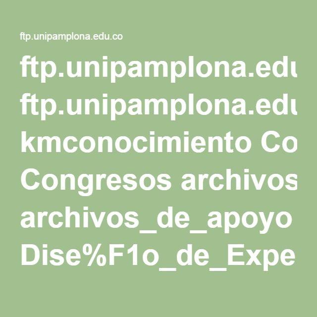 ftp.unipamplona.edu.co kmconocimiento Congresos archivos_de_apoyo Dise%F1o_de_Experiencias.pdf