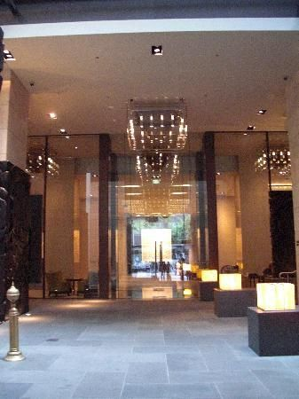 Armani entrance of hotel