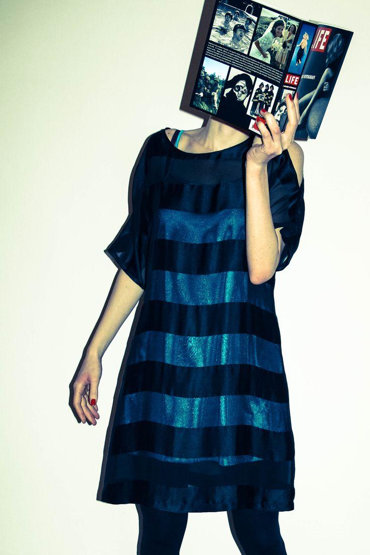 Striped dress_ tramedinchiostro