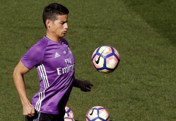 James Rodríguez se sumó a entrenamientos del Real Madrid con la misión de jugar ante Betis - HSB Noticias