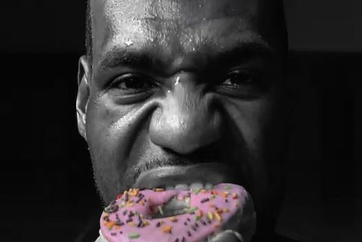 International food chain Dunkin' Donuts has recently announced a multi-year advertising agreement with NBA star LeBron James to endorse its products in China. In addition to the sweet glazed treats, the company will also introduce savory shredded pork donuts to cater to local tastes.   http://www.psfk.com/2012/03/lebron-james-to-promote-pork-donuts-in-china.html