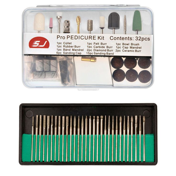 62 Pcs 3/32'' Pro Electric Durable Nail File Art Drill Bits Polished Grinding Head Manicure Pedicure Machines Tools Accessories
