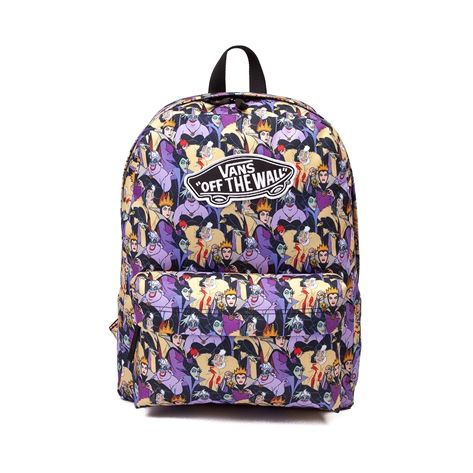 The mistresses of all evil come together for the Villainess Backpack from Vans! Disney and Vans team up to bring you this villainess print Realm Backpack, featuring a wicked character printed exterior with logo patch, and plenty of compartment space for all of your essentials. Available for shipment in June; pre-order yours today! Available only at Journeys, Journeys Kidz, and SHIbyJourneys!