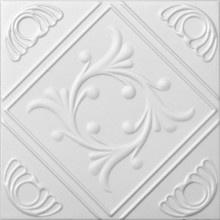 R 02 Styrofoam Ceiling Tile 20x20 - Diamond Wreath - idea to cover popcorn ceilinsg