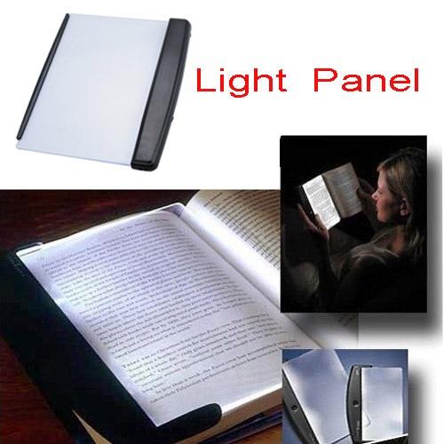 Portable Light Panels : Portable foldable reading book led lamp light panel black