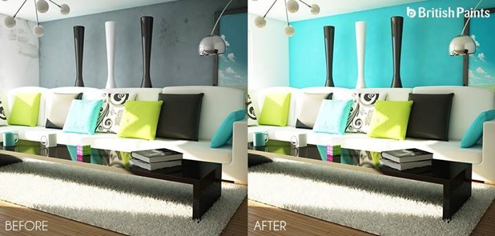 A simple paint job can completely transform the look of the surroundings.   Change the look with British Paints.