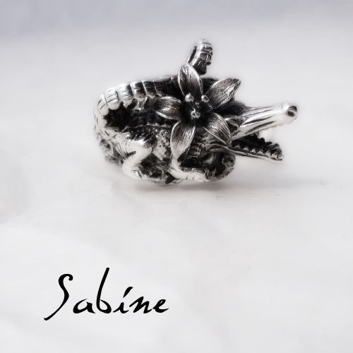 Sterling silver tropical crocodile ring $200 (order it in your size) www.sabinejewellery.com.au