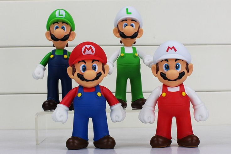 4pcs Mario & Luigi Figures Toys Super Mario Bros Mario Luigi Toy Model Dolls…