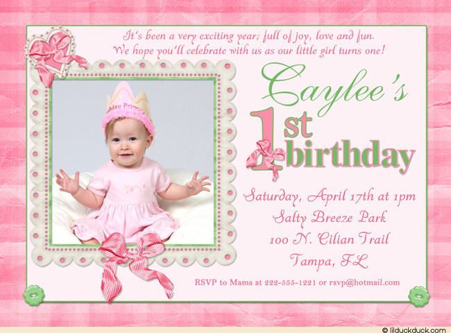 Best St Birthday Invitation Wording Ideas On Pinterest - Baby girl first birthday invitation ideas