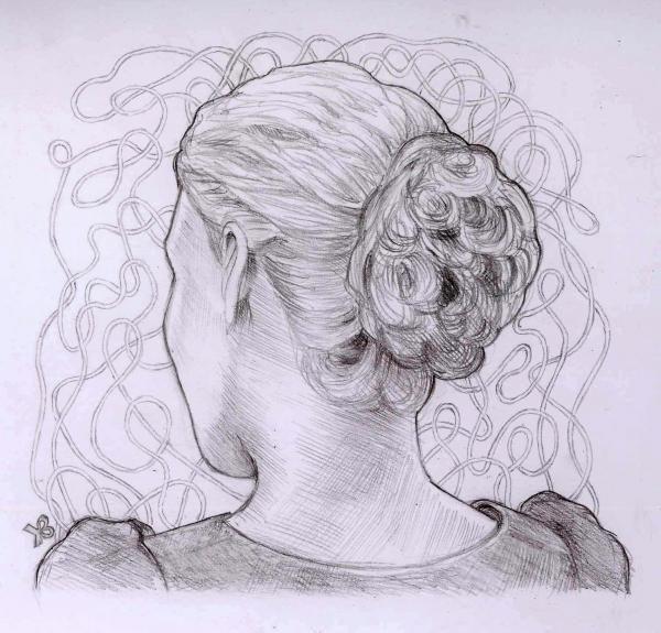 Romola Garai by Fiona, drawing http://RomolaGarai.org
