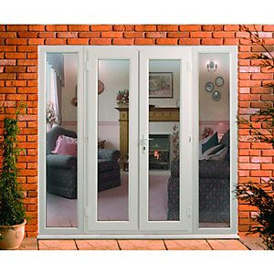 Wickes uPVC French Doors 8ft With 2 Side Panels 600mm same width as gym deck opening