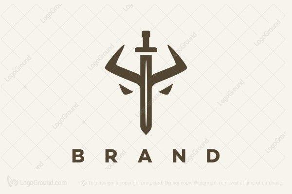Sword Bull Logo Bull Logo Security Logo Logo Branding Identity