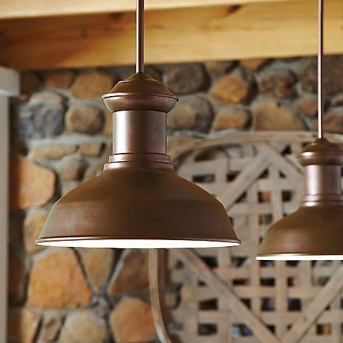 Who says your patio or sun room can't have a bit of style? The Fredricksburg Outdoor Pendant by Sea Gull Lighting says otherwise with its classic station light design and eclectic selection of finishes. Its rounded body (with a White interior) contains a single recessed light source which provides plenty of ambient light while eliminating any extraneous spill, allowing you to enjoy the outdoors no matter what time of day it is.