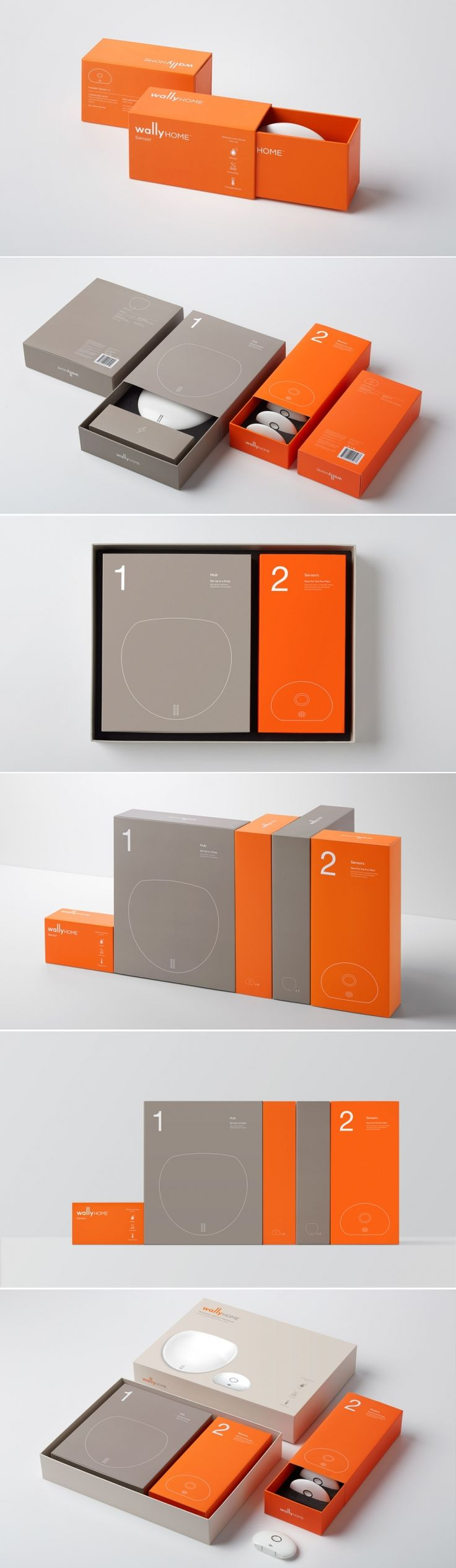 Wally - Home Sensor System — The Dieline - Branding & Packaging Design - created via https://pinthemall.net