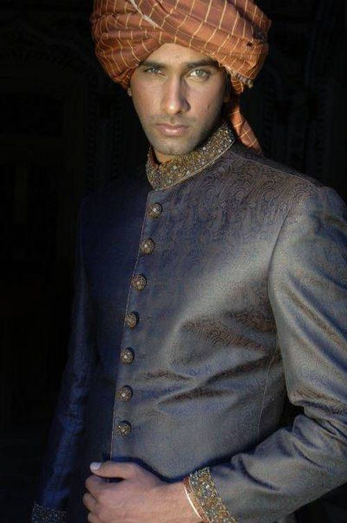 Beautifully understated grey sherwani.  --- #Indian men's wedding wear
