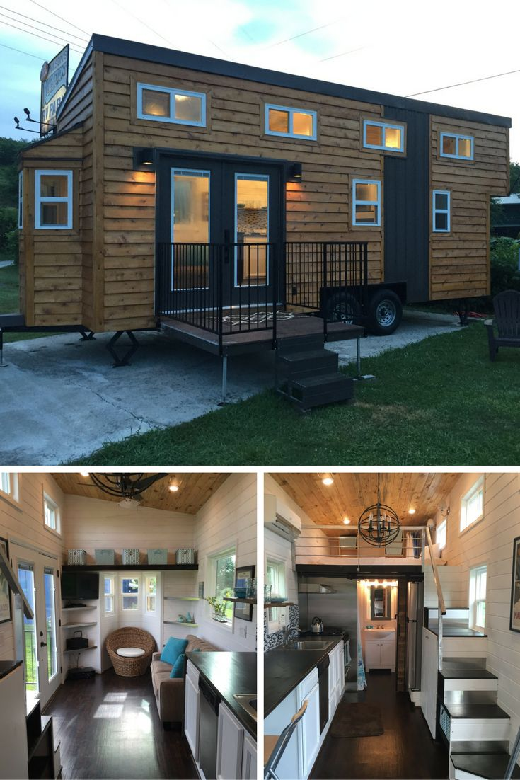 View toward kitchen the alpha tiny home by new frontier tiny homes - Find This Pin And More On My Tiny House Obsession