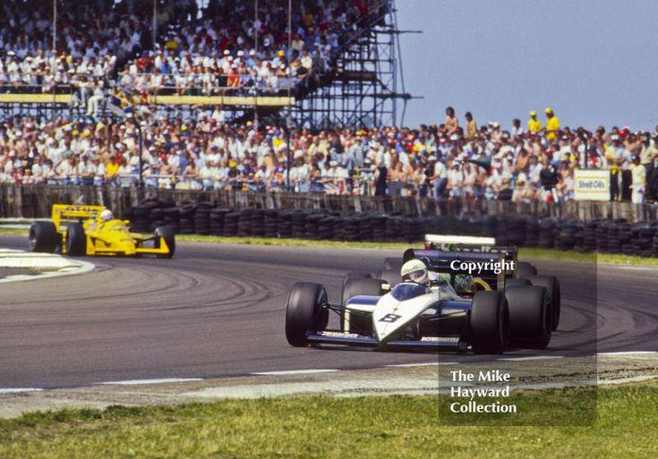 Andrea de Cesaris, Brabham BT56, at Copse Corner before retiring with broken fuel metering unit on lap 28, British Grand Prix, Silverstone, 1987. #f1 #formula1