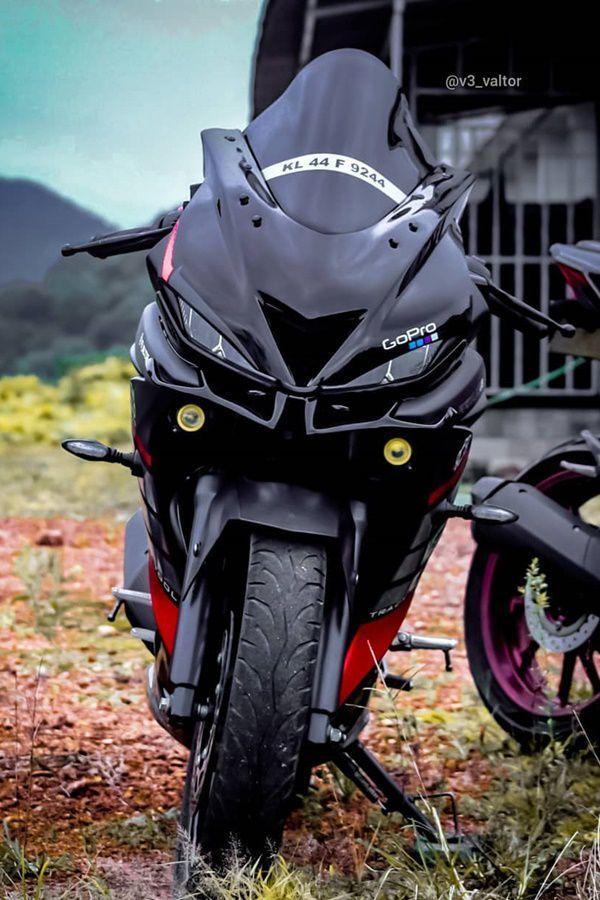 Modified Black Red Yamaha R15 V3 Modifiedx Yamaha Bikes R15 Yamaha Bike Pic