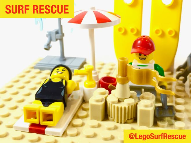 Another great day at the beach. Vote for a #SunSmart #Lego set starring heroes wearing sunscreen at http://bit/ly/legosurfrescue. #Legoideas #Melanoma #SkinCancer #Cancer #Australia #SurfLifeSaving