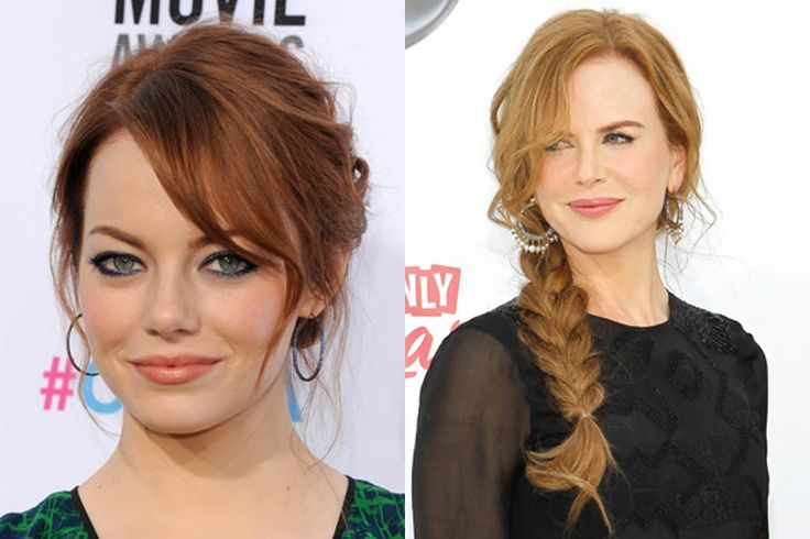 redhead hairstyles and Eye makeup