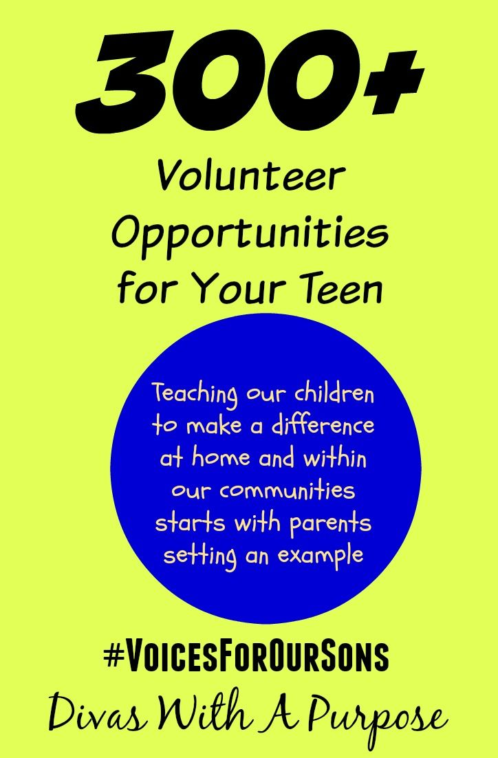 Volunteer opportunities for teens — 1