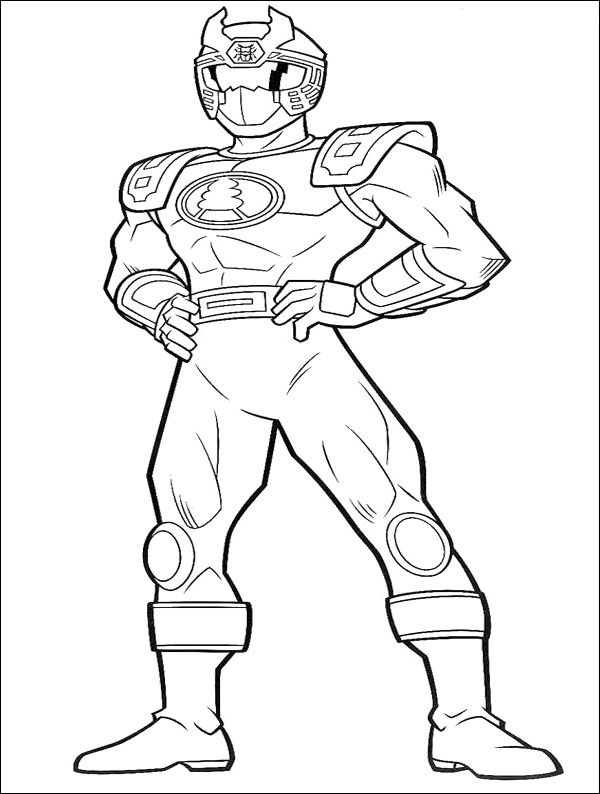 Ranger Red Ninja Thunder Coloring Pages Power Ranger