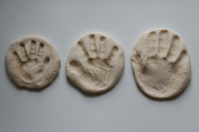 Create with your hands: Making Salt Dough Baby Hand Prints
