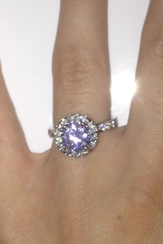 Purple diamond ring!