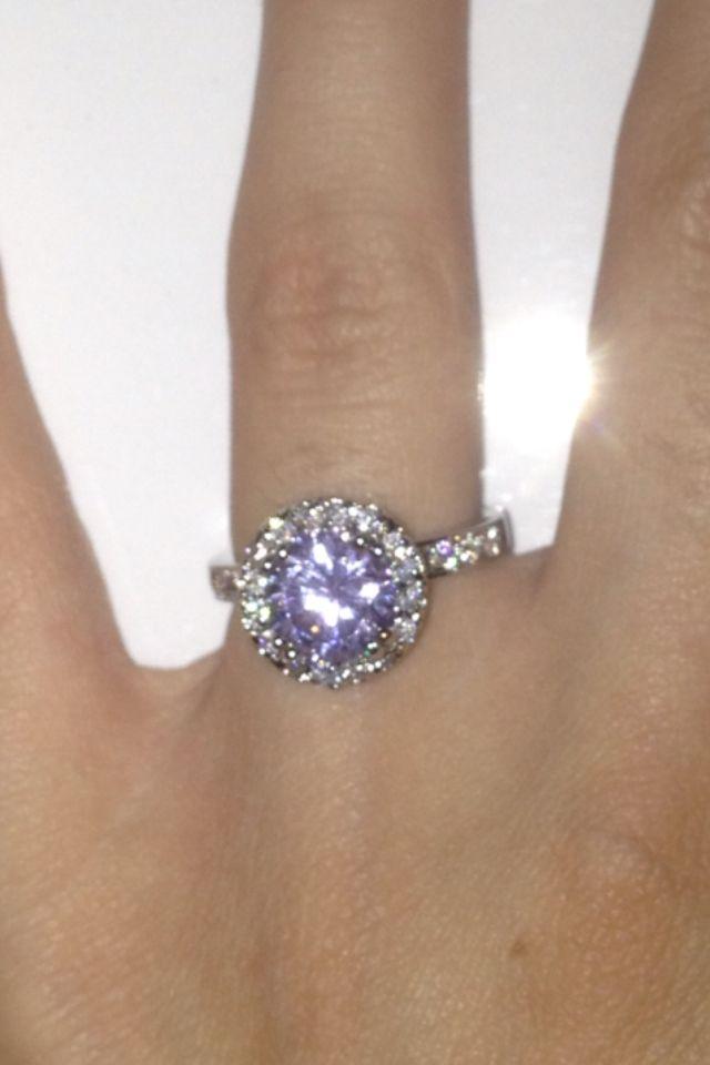 Purple diamond ring!
