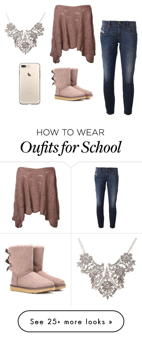 """school"" by mrsbieber123-396 on Polyvore featuring Diesel and UGG"