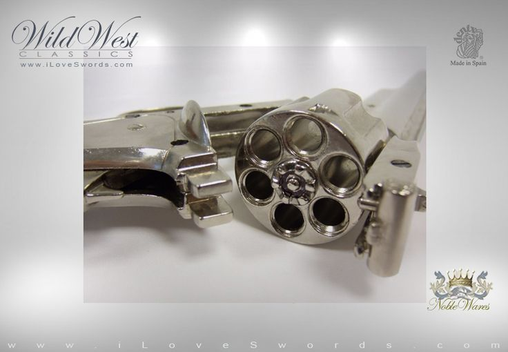 Smith and Wesson Schofield Revolver replicas By Denix | The catch release allows you to break open. Available at NobleWares iLoveSwords.com