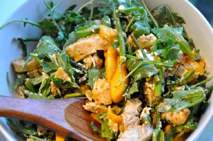 Herb Chicken, Arugula and Mango Salad | Yummylicious !!! | Pinterest