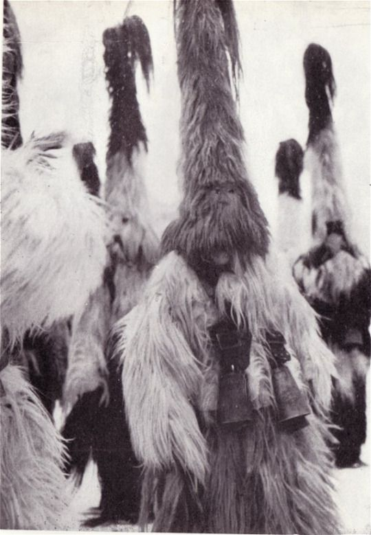 Traditionally, the 'kukeri' custom in Bulgaria was performed between Christmas (Koleda) and Epiphany (Bogoyavlenie) in the Western regions, and during Shrovetide (Sirni zagovezni) in the Eastern parts of the country. They dance and sing in order to chase evil spirits.