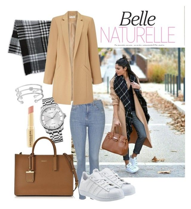 Belle Naturelle | casual by neeacamillaa on Polyvore featuring Miss Selfridge, Topshop, adidas Originals, DKNY, Calvin Klein, Dyrberg/Kern, BLACK BROWN 1826, Napoleon Perdis, women's clothing and women's fashion