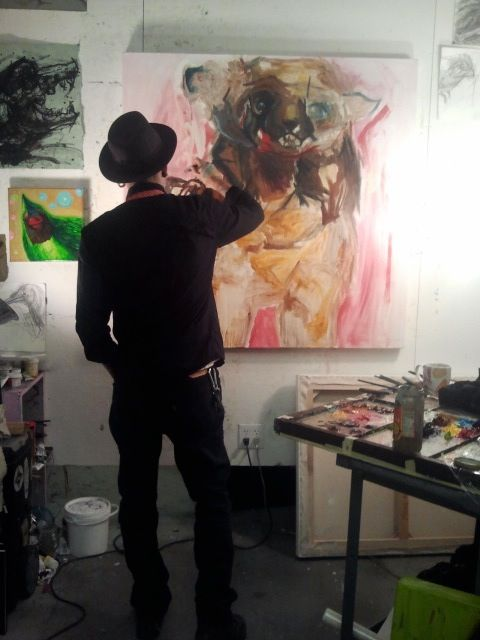Micah Litant in his studio